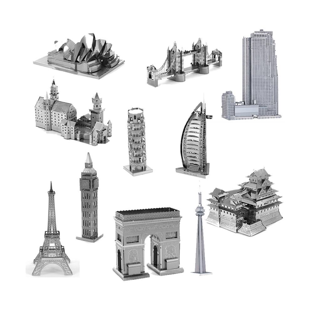 2017 Nuevo Desarrollo De la Inteligencia de Juguete 3D Puzzles De Metal de Tierr