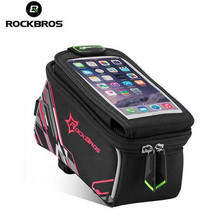 ROCKBROS Waterproof Mountain Road MTB Bike Bicycle Front Top Frame Handlebar Touch Bag For 6 inch Cellphone Phone