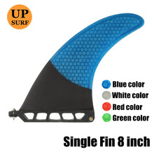 Blue Surfboard Fin 7Length Center Fins Longboard Single High Sale Fiberglass
