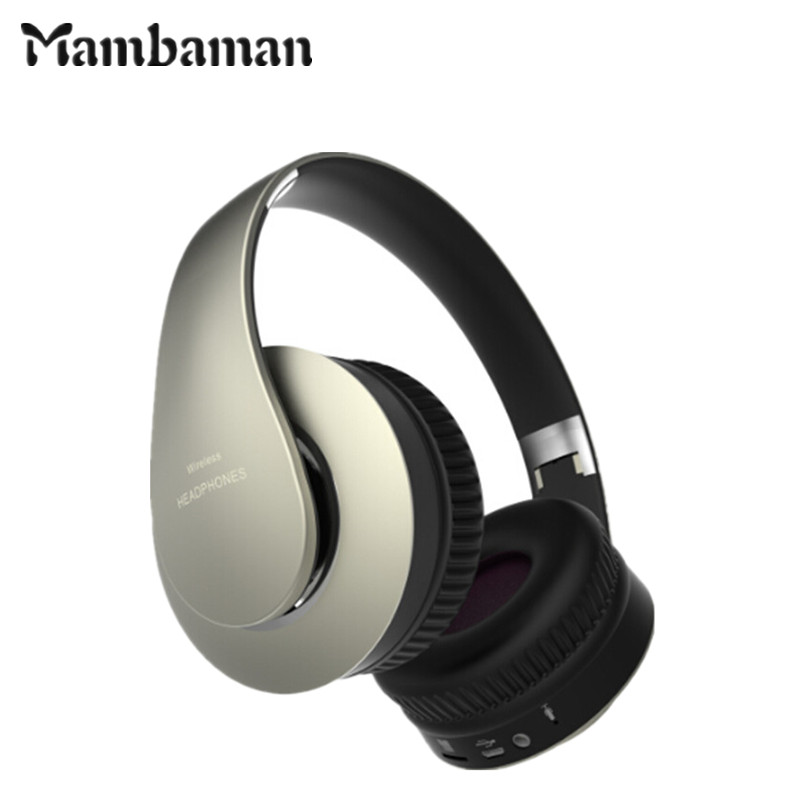 Mambaman MBH601 wireless headphone Bluetooth Headphone with microphone Stereo earphone gaming Headset earbuds for xiaomi Phone new guitar shape r9030 bluetooth stereo earphone in ear long standby headset headphone with microphone earbuds for smartphones