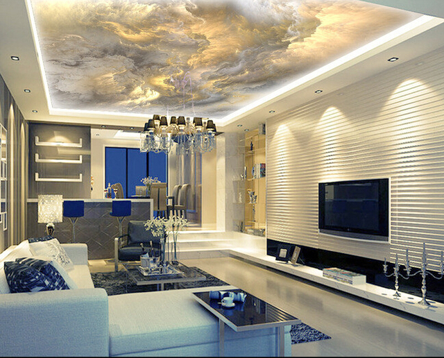 Custom Ceiling Wallpaper, The Sky Is Used For Apartment, House, Office Or  Retail Space Background Wall Waterproof Wallpaper