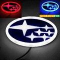 4D led Car Logo Light Case for subarus XV Forester Outback Legacy Impreza ect. 14.0*7.2cm Car Badge Light Auto LED Emblem Light