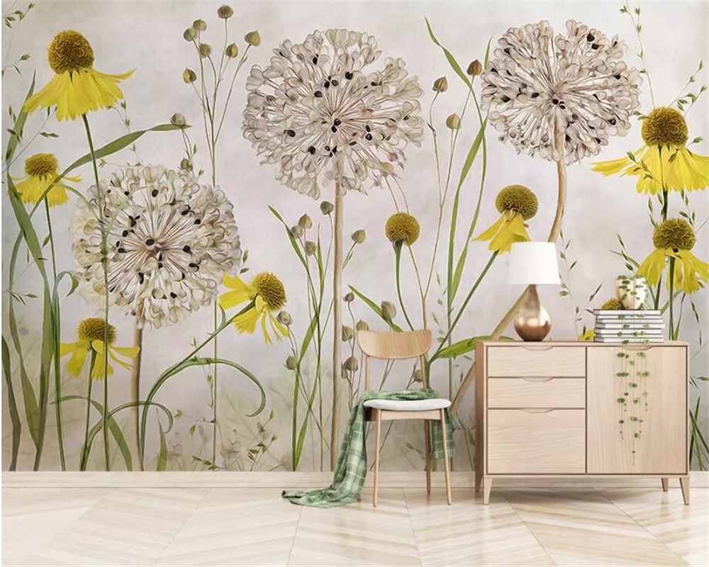 beibehang Custom photo wallpaper modern Retro plant Watercolor Hand Painted fashion flowers background wall 3d wallpaper mural in Wallpapers from Home Improvement