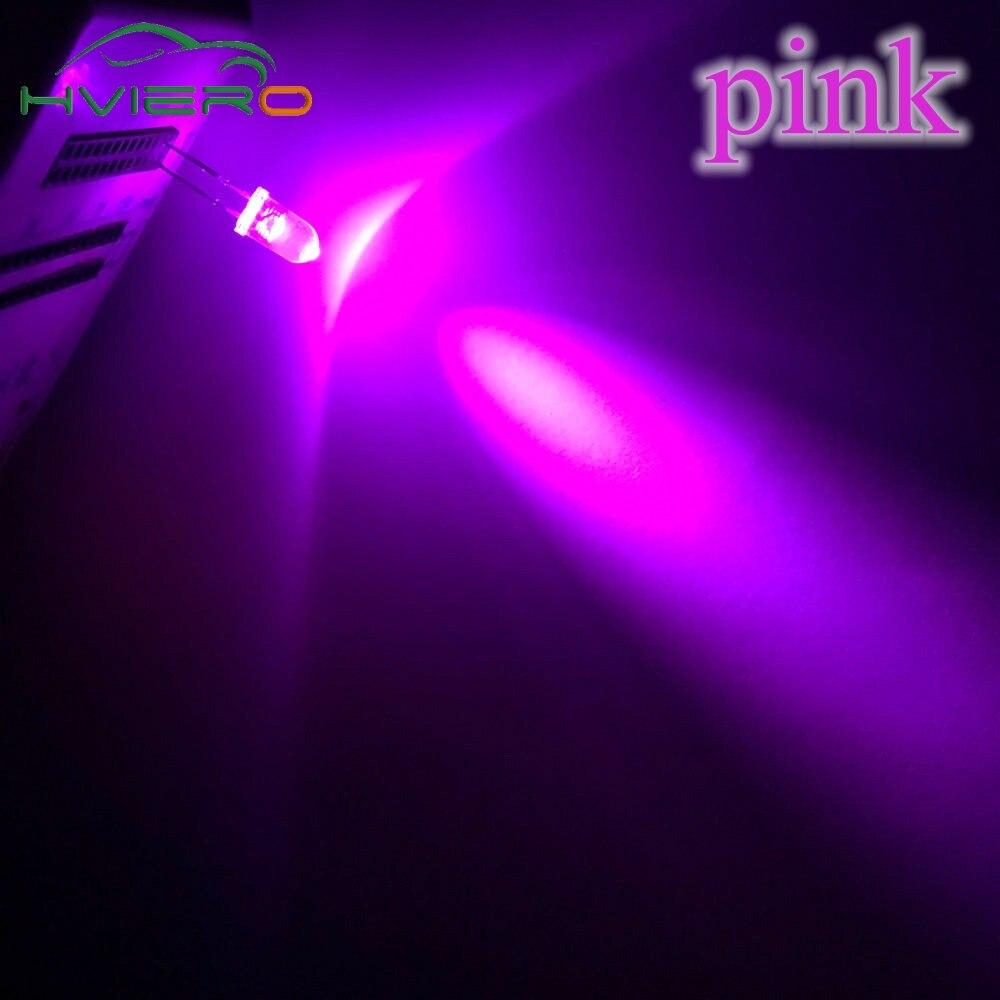 20X F5 5 мм круглый белый, красный, зеленый, синий, желтый, розовый прозрачный Диод Led супер яркий светодиод 6000-6500k лампа