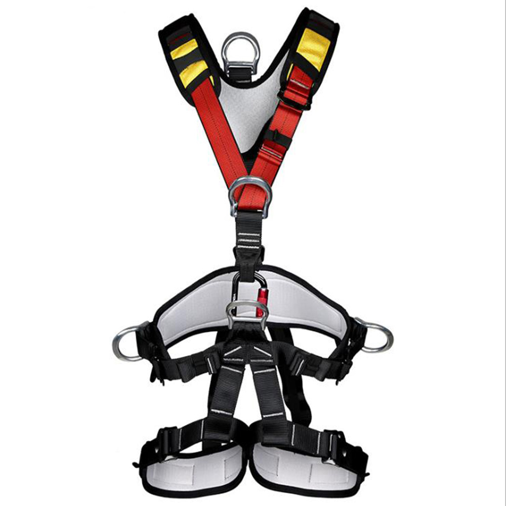 XINDA Escalada Full Body Climbing Harness Belt Adjustable Harness Security Seat Belt Mountaineering Rescue Protective Belt belt