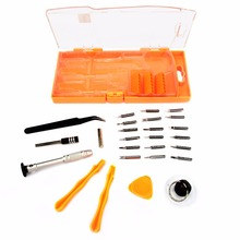 цена на JAKEMY 26 in 1 Mobile Phone Repair Tools Kit Spudger Prying Screen Opening Tool Screwdriver Tweezers Set for iPad iPhone