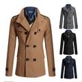 Trade wholesale men's fashion men overcoat woollen fabric cloth short coat dust coat dust coat, the son of han edition men