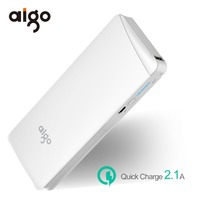 Aigo 10000mAh Power Bank Fast Charger Portable External Battery Large Capacity Poverbank For Xiaomi MI For