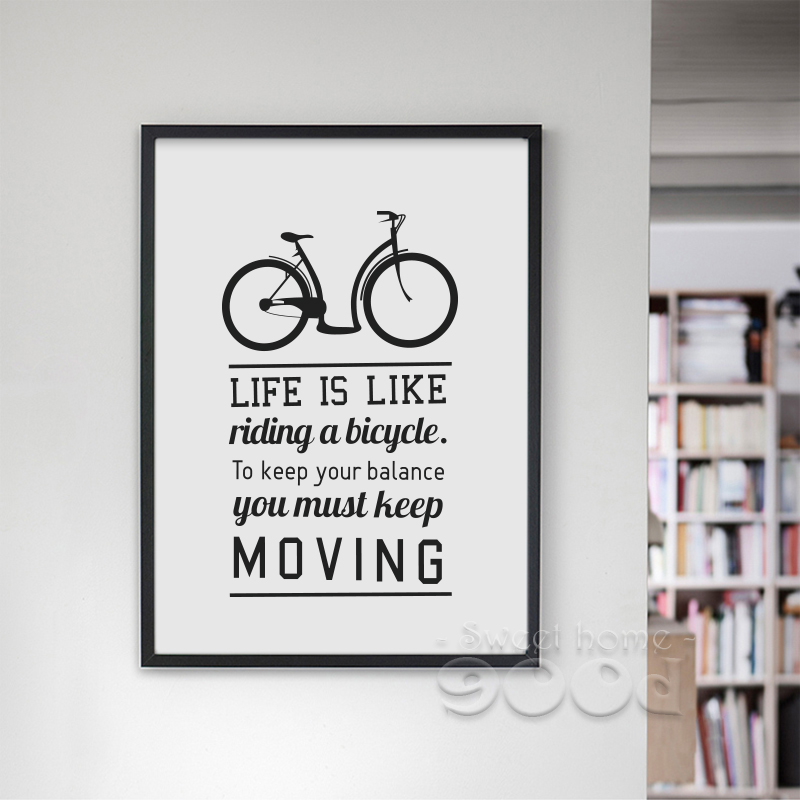Aliexpress.com : Buy Inspiration Quote And Bicycle Canvas