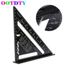 7'' Metric Aluminum Alloy Speed Square Roofing Triangle Angle Protractor Square Carpenter's Measuring Sharpeners APR20_30
