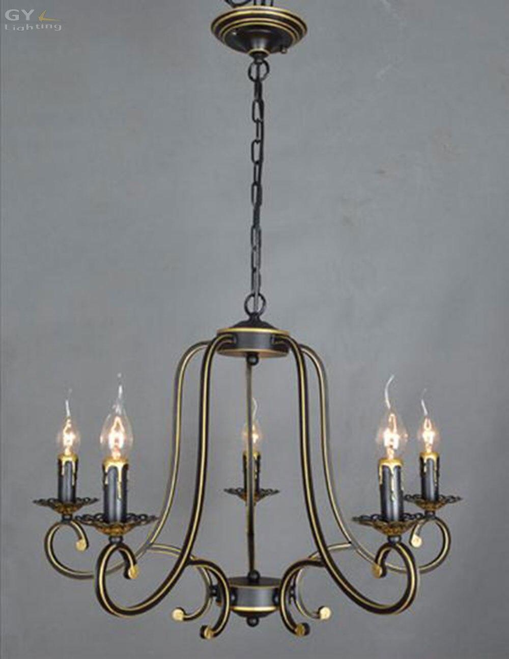 Acquista all'ingrosso online wrought iron chandelier 5 da ...