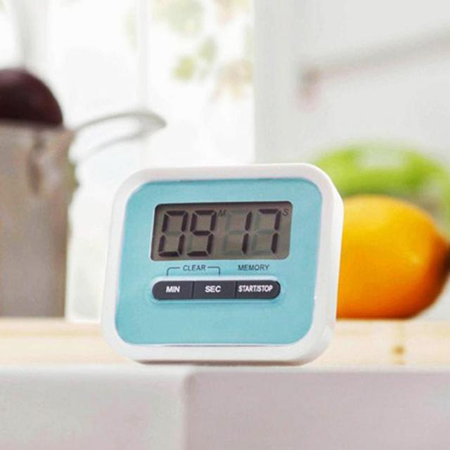 Magnetic Digital LCD Kitchen Timer Count Down Egg Cooking Fridge Alarm Clip