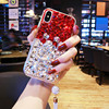 Lady Girl Women Style Fashion Rhinestone Hard Plastic Diamond Clear Crystal PC Phone Cases For LG
