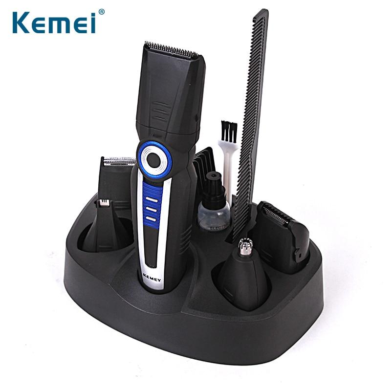 KEMEI 6 en 1 tondeuse électrique tondeuse Rechargeable rasage Machine cheveux coupe tondeuse à barbe tondeuse cheveux BT-030