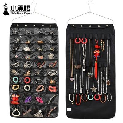 Fashion Creative Hanging Jewelry Organizer Bag Oxford Fabric Wardrobe Closet  Wall Hanging Storage Pockets For Jewelry