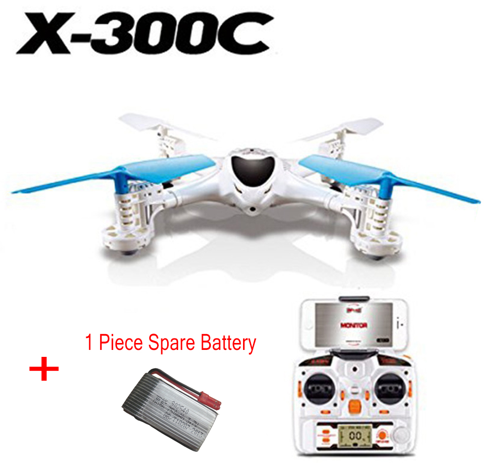 F16107/8-A MJX X300C FPV RC Drone Headless RC UAV Quadcopter with Built-in Camera Support Real-time + 1 Piece Spare Battery fpv x uav talon uav 1720mm fpv plane gray white version flying glider epo modle rc model airplane