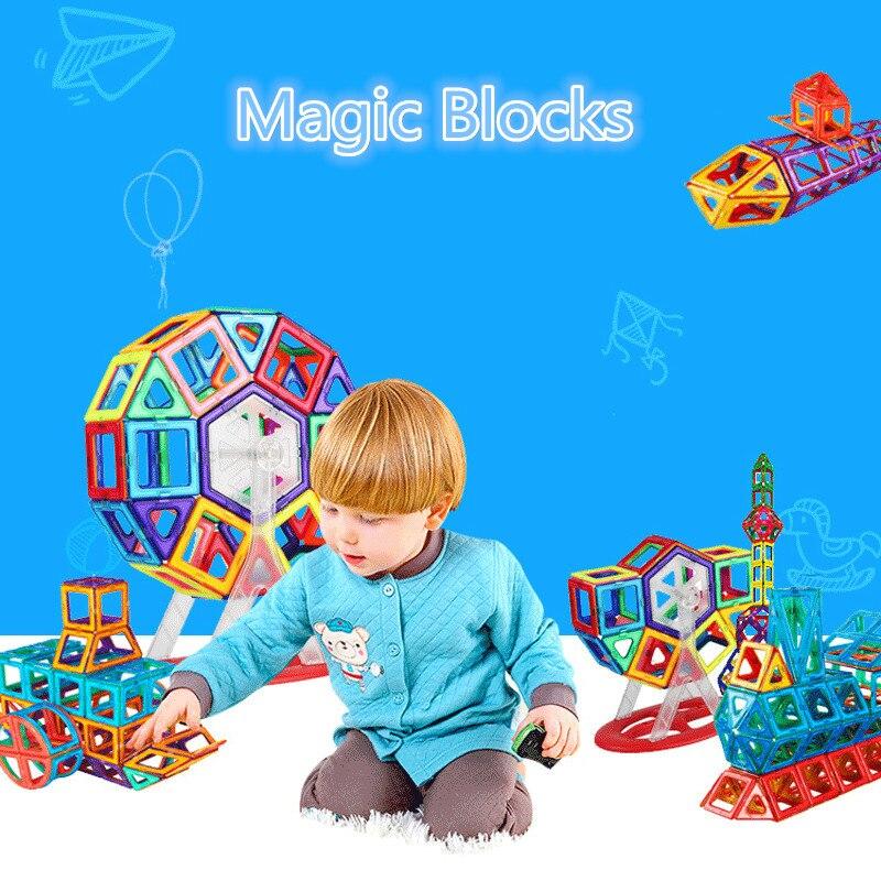 110pcs Standard Size Magnetic Designer Construction Set Model Building Toy Brick Enlighten Bricks Magnetic Toys for