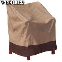 Polyester Waterproof Patio Chair Cover Single High Back Chair Covers Outdoor Yard Furniture Protective Cover Home