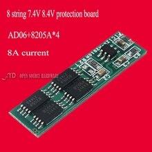 7.2v7.4v8.4v2 строка предохранения от батареи лития доска 2 18650 батареи плате максимальный ток 15-20A