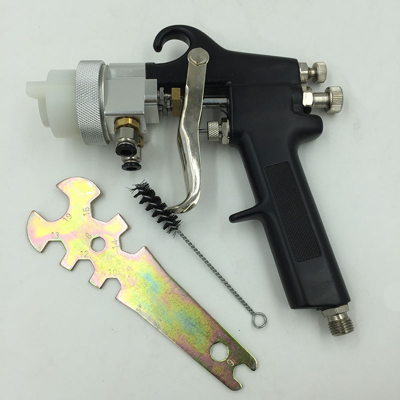 SAT1182 Nano Chrome Plate Paint Gun Pneumatic Dual Nozzle Air Spray Gun High Pressure Feed Type Silver Mirror Chrome Paint Gun