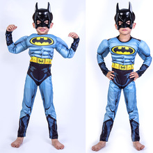 Halloween Muscle Batman Childrens Stage Costume Cosplay Avenger Alliance Boy  Trench Coat