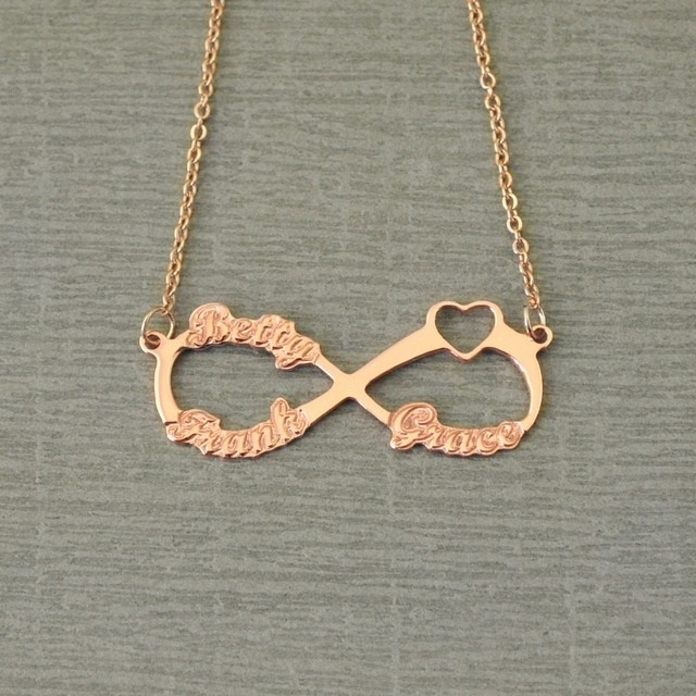 choker listing initial il necklace infinity with oieq names personalized