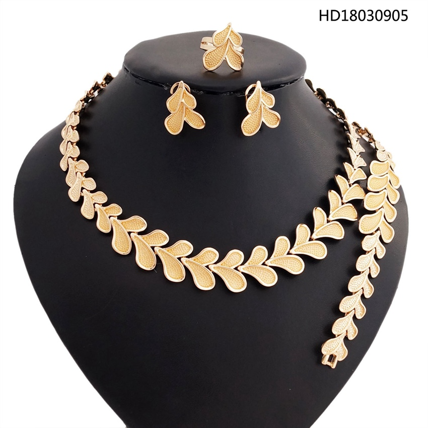 YULAILI Charming Heart Design Necklace Bracelet Earrings Ring Fashion Wedding Bridal Party Costume Jewelry Sets a suit of charming red rhinestone bamboo necklace bracelet ring and earrings for women page 9