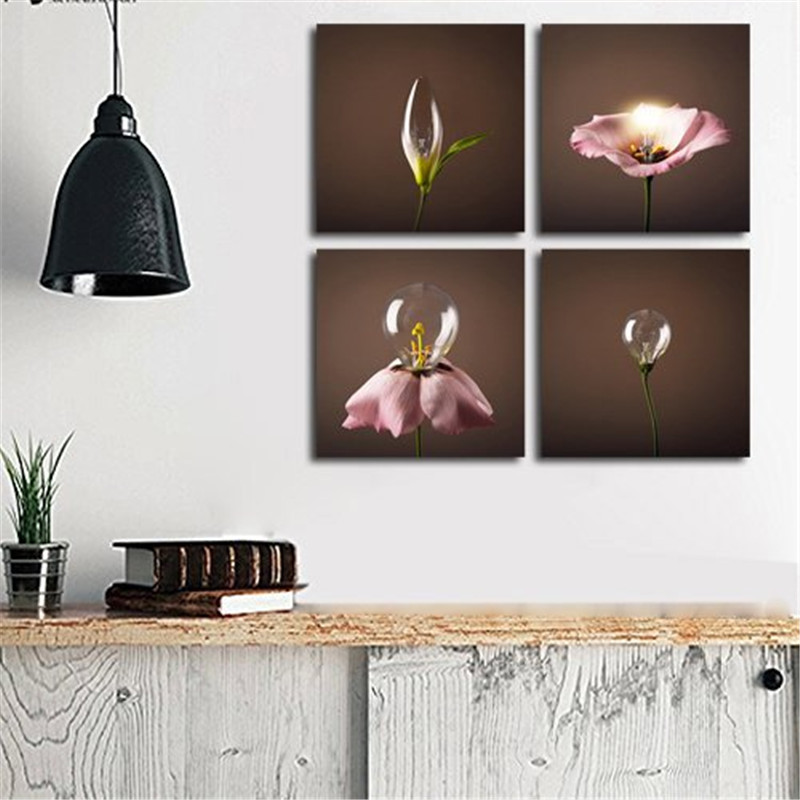 Creative Lantern 4 Panels Wall Art Canvas Paintings Wall Decorations For Living Room Home Artwork Giclee Wall Artwork Home Decor