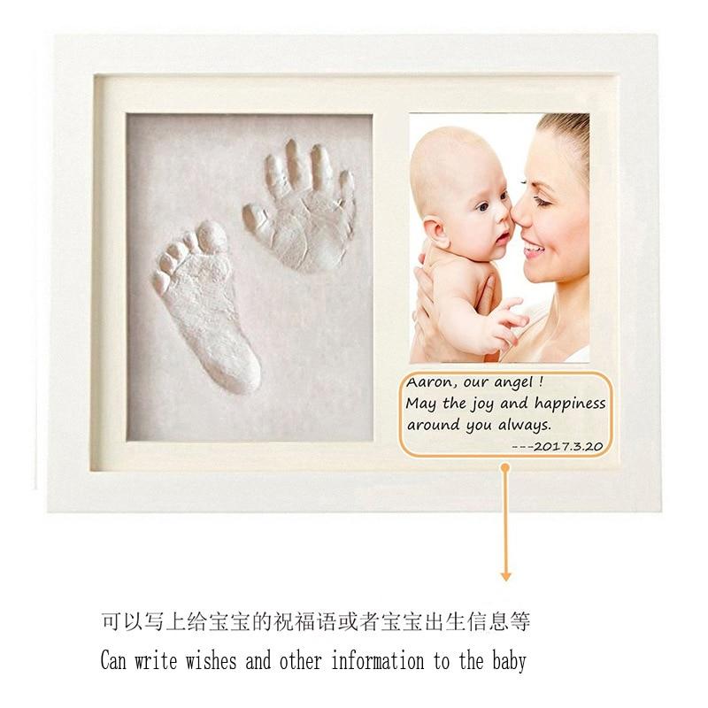 Marco negro Baby Handprint Footprint Keepsake Kit Ni/ñas Baby Nursery Memory Art Frame Frames Baby Prints Photo Frame for Newborn Baby Shower Picture Frames for Baby Registry Ni/ños