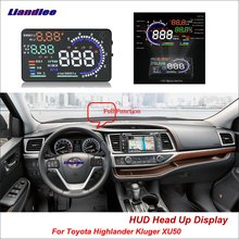 Liandlee For Toyota Highlander Kluger XU50 2013-2018 Safe Driving Screen OBD Car HUD Head Up Display Projector Windshield