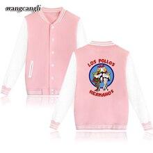 wangcangli 2017 Los Pollos Hermanos Jacket Men and Women Baseball Jackets Famous Band logo Coats Fashion Streetwear clothing 4xl