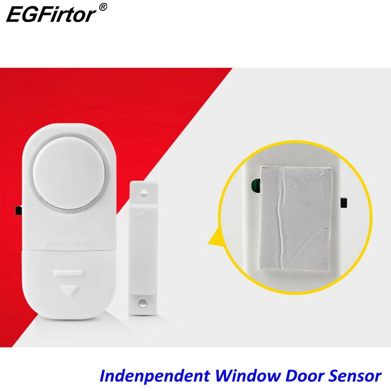 Mini Battery Independent Wood Door Sensor Window Alarm Magnetic Contact Home Alarm Sensor Detection