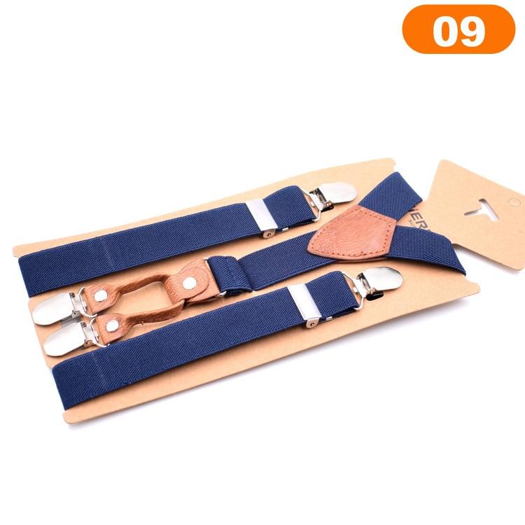 New Adjustable Elasticated Kids Suspender Straps Y Shape Clip-on Boy's Suspenders 4 Clip Pants Braces For Boy Girls Belt Straps