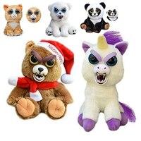 Feisty Unicorn Zwierząt Panda Zmiany Twarzy Niedźwiedź Pies Kot Lisa Finger Monkey Pluszaki Plush Doll Zabawki Dla Dzieci Dla dzieci prezenty