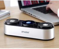 wireless bluetooth speaker metal portable subwoof sound with Mic TF card FM radio AUX MP3 music play loudspeaker S4