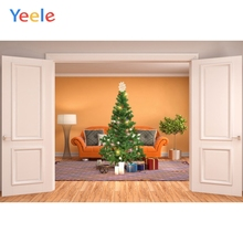 Yeele Christmas Family Photocall Decor Party Tree Photography Backdrops Personalized Photographic Backgrounds For Photo Studio customtye die muslin wedding backdrops photography cotton cloth photography backgrounds for photo studio christmas family f188