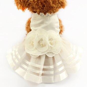 Armi cửa hàng Ngọc Trai Hoa Nghiêm Con Chó Ăn Mặc Wedding Dresses Cho Chó 6073008 Pet Trang Phục Váy Nguồn Cung Cấp XS, S, M, L, XL
