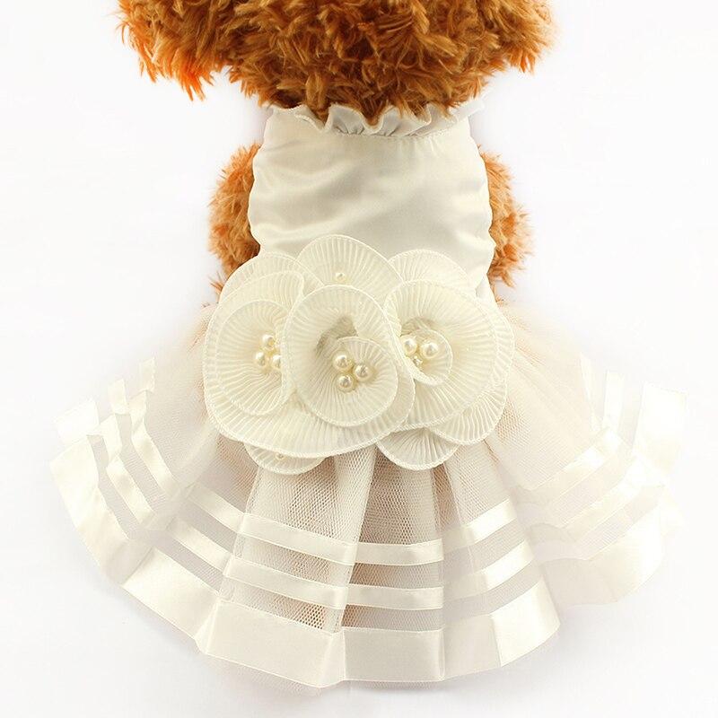 Tienda Armi Flor de La Perla Adorno Perro Vestido de Novia Vestidos Para Perros 6073008 Falda