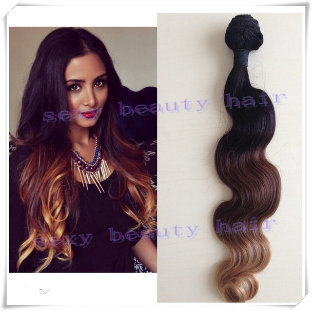 3 Tone Ombre Hair Weave Extensions Ombre Three Tone Hair Weave 1b 4