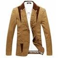 Otoño primavera 2016 Hombres Blazer Casual Suit Blazer Hombres Slim-Fit Chaqueta de la chaqueta de Algodón Marca de Moda Más El tamaño 4XL Blazer masculino