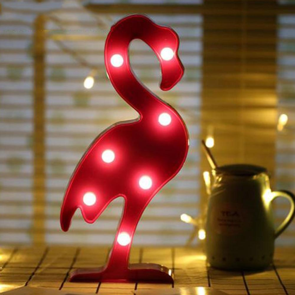 LED Night Light 3D Desk Lamp for Indoor Home Party Bedroom Decoration Flamingo Pineapple Cactus Christmas Tree