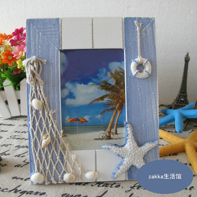2 Pieces New Fashion Hanging Picture Frames Mediterranean Style