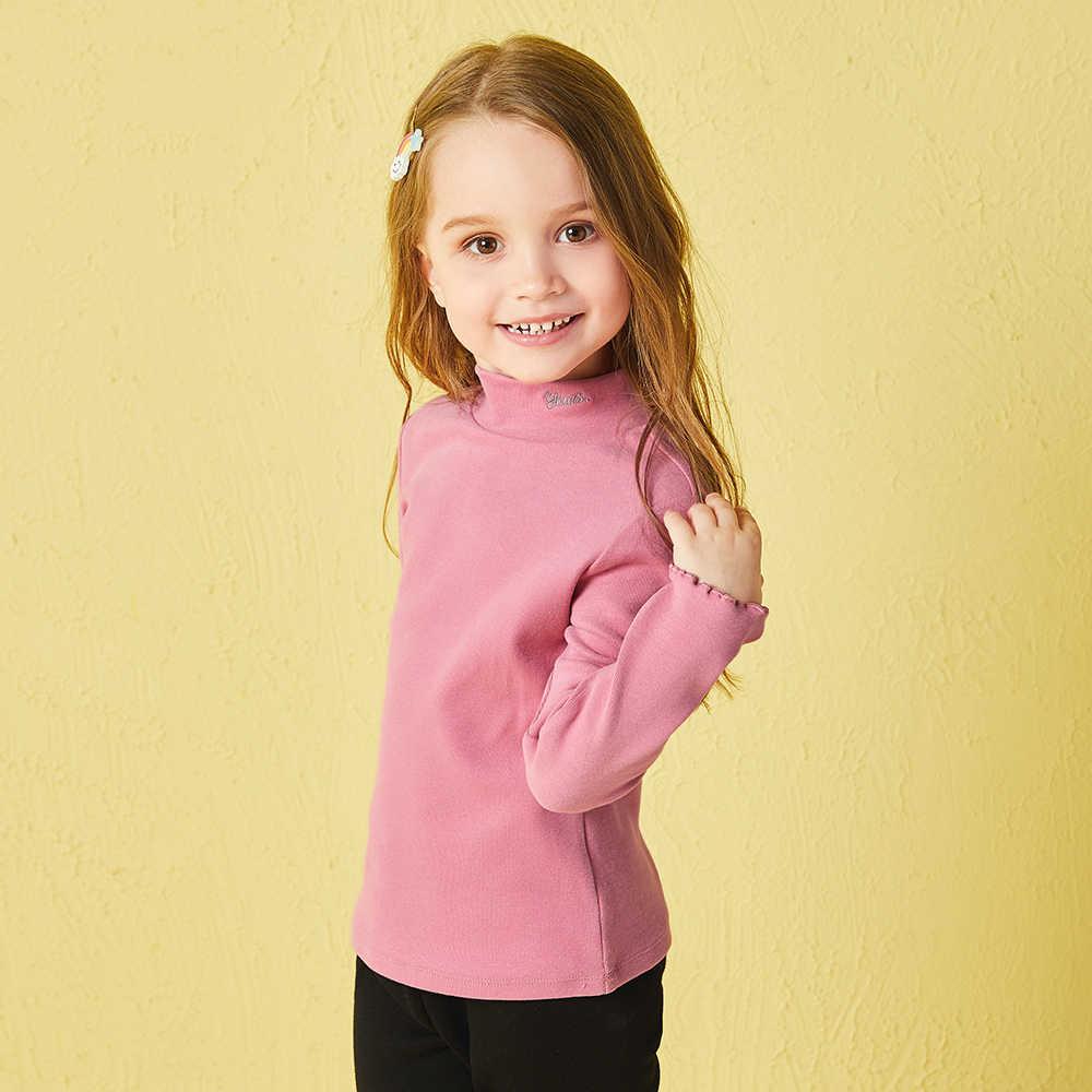 Balabala/Детские зимние полосатые футболки для девочек; enfant; детская одежда; Одежда для маленьких девочек; Повседневная водолазка; джемпер; футболка