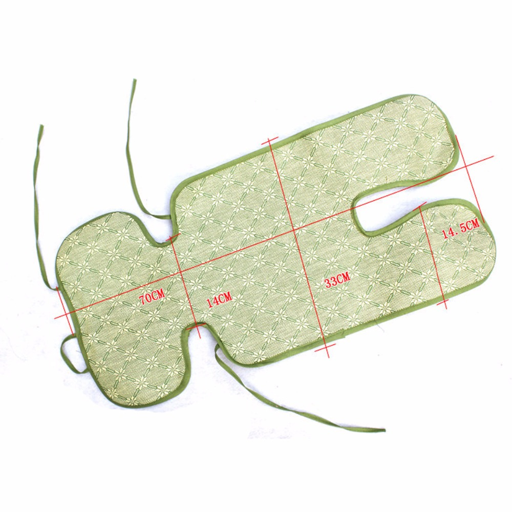 Babies Summer Cool Stroller Mat Toddler Seat Cushion Breathable Pad Straw Chair Cushion Stroller Accessories For Baby Newborn