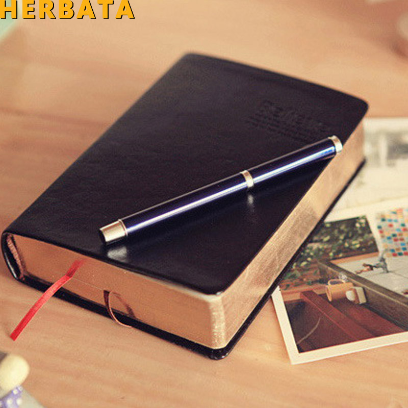 HERBATA Vintage Thick notebook Bible Diary Book Leather Agenda Zakka Caderno Escolar Stationery Office Material School SuppliesHERBATA Vintage Thick notebook Bible Diary Book Leather Agenda Zakka Caderno Escolar Stationery Office Material School Supplies