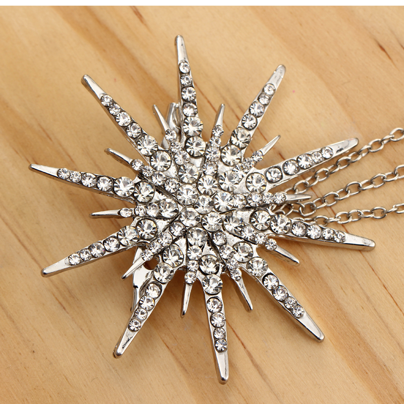 Hesiod Fashion Women Brooch Crystal Charm Star Sparking Chain Brooches Lady Dress Decoration Wholesale 4