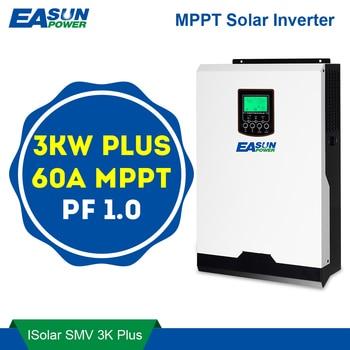 Inversor hibrido todo en 1 de 3KW + Regulador MPPT 60A + Cargador 60A +, entrada PV 145VDC, 230 VAC, 24V, pantalla de control LCD y bluetooth EASUN 1