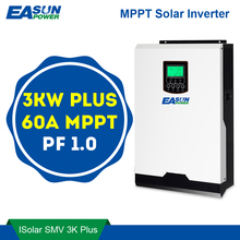 EASUN mocy MPPT falownik solarny 3000W 24V 220V 60A MPPT inwerter Off Grid 3Kva przetwornica napięcia ładowarka solarna 60A ładowarka baterii