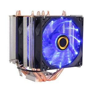 Image 2 - קריר מאוורר למעבד אינטל AMD מעבד 4 חום צינורות קירור 4PIN מעבד רדיאטור 3 מאוורר