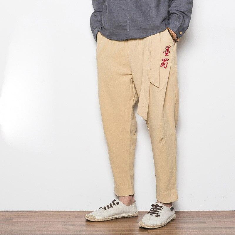 Вышивка на мужских брюках